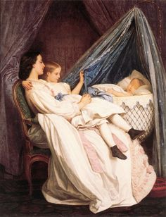 Auguste Toulmouche (1829-1890)  The New Arrival 1861