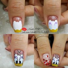 Photo nail designs 2019 nail designs for short nails 2019 self adhesive nail stickers best nail stickers nail stickers walmart nail designs designs for short nails step by step best nail stickers nail art stickers walmart nail stickers walmart Nail Art Modele, Nail Art Dessin, Cartoon Nail Designs, Short Nail Designs, Diy Nails, Cute Nails, Nail Manicure, Nail Polish, Mickey Nails
