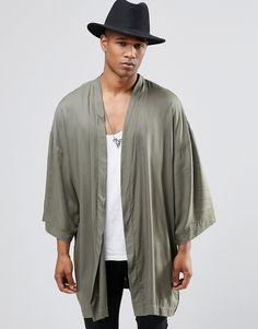 ASOS+Kimono+In+Khaki