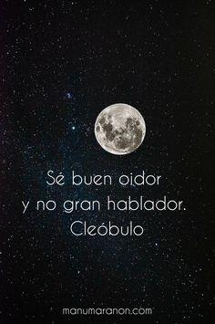 Check out my new PixTeller design! :: Sé buen oidor y no gran hablador. cleóbu...