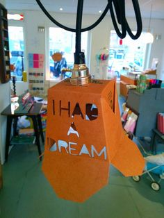 Diy noodle box lamp. I HAD A DREAM. Theatre spot lamp lookalike