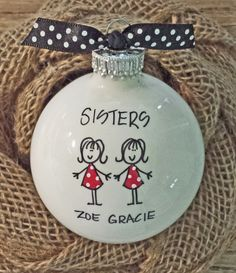 Sisters+Ornament++Christmas+Ornament+Sister+di+HappyYouHappyMe