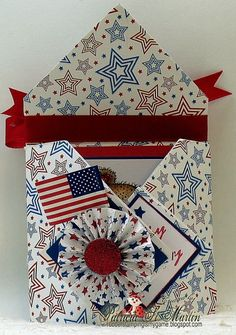 Diamond Origami Fold card Happy Birthday America by pstmartin1 - Cards and Paper Crafts at Splitcoaststampers
