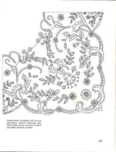 Risultati immagini per bordados en tul y dibujos Pearl Embroidery, Cutwork Embroidery, Embroidery Needles, Hand Embroidery Patterns, Lace Patterns, Cross Stitch Embroidery, Embroidery Designs, Bordados Tambour, Lesage