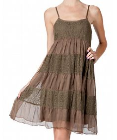 Cowgirl Brown Gorgeous Vintage Lace Dress