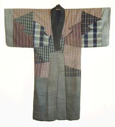 A Pieced Silk Under Kimono, late 19th century
