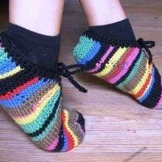 Leftover Yarn Slippers