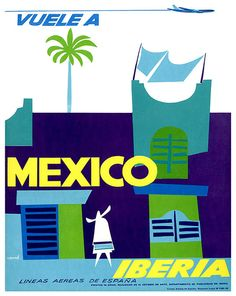 Mexico Travel Poster Mexican Wall Art Print Home by Blivingstons