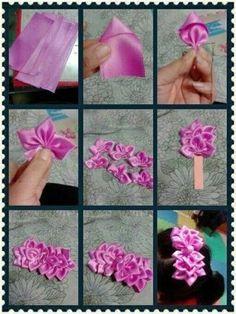Lucro certo: Faça e venda Flores e Laços de cetim