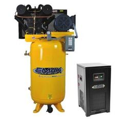 This Bundle has our Emax Industrial Plus 10 HP 2 Stage 1 Phase Vertical 80 Gal. Piston Air Compressor is designed for up to hours of commercial or industrial use with proper maintenance. Wood Storage, Built In Storage, Garage Packages, Used Lockers, Dewalt Power Tools, Electric Air Compressor, Shed With Loft, Garage Systems, Bamboo Shelf