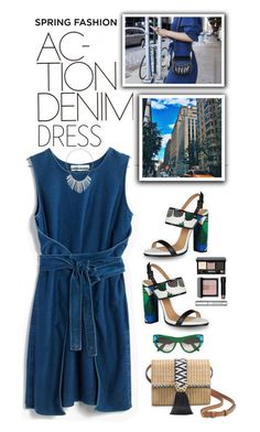 """""""Sweet Spring Dresses"""" by shortyluv718 ❤ liked on Polyvore featuring Madewell, Dsquared2, Stella & Dot, Prada, Bobbi Brown Cosmetics, Dorothy Perkins, DenimDress, contestentry, DenimStyle and springdress"""
