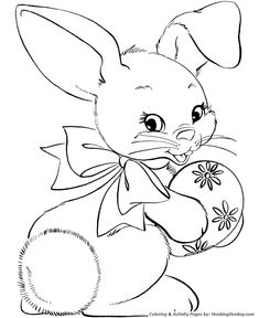 Easter Bunny Coloring Pages - Easter Egg Bunny