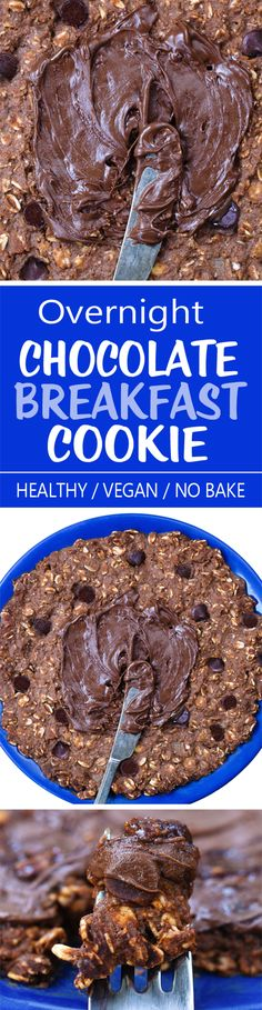 """A chocolate """"no bake"""" overnight breakfast cookie that is ready whenever you want it!"""