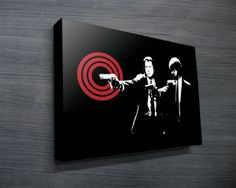 Pulp Fiction Pop Art from $26.00. This great looking pop art depicts the poster from the iconic film by Quentin Tarantino. As with all art on this site, we offer these prints as stretched canvas prints, framed print, rolled or paper print or wall stickers / decals.  http://www.canvasprintsaustralia.net.au/  #giftsfordad #photostocanvasonline