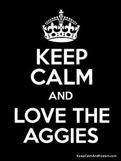 Gig em' Aggies!   Obviously for my Aggie friends.  :-)