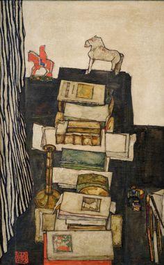 "workman:  tierradentro: ""Schiele's Desk"", 1914, Egon Schiele."