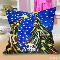 Tree Christmas Chanel Winter Blue Pillow Cases