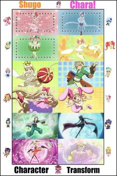 Shugo Chara transformations What about Amu's Amulet angel? I know that El isn't actually hers but it's still a character transformation. All Anime, Anime Manga, Anime Art, Shugo Chara, Otaku, Creepy Costumes, Pokemon, Cartoon Shows, Manga Pictures