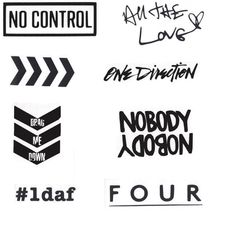One Direction Vinyl Stickers