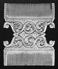 Double-Sided Comb  Sri Lanka ,ivory  !8th century
