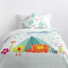 Duvet cover cotton with 150 thread count Include a nice decorative cushion cover Closure with hidden plastic snap fasteners. Happy Campers, Linen Bedding, Happy Friday, Comforters, Duvet Covers, Cushions, Blanket, Kids, Home