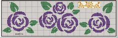 This Pin was discovered by ale Cross Stitch Boards, Cross Stitch Rose, Cross Stitch Flowers, Cross Stitching, Cross Stitch Embroidery, Cross Stitch Patterns, Charts And Graphs, Chart Design, Floral Border