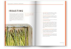 recipe book design photo is spliced with recipe inset clever use