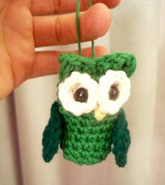 Owl decoration free knit pattern