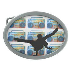 Boombox B-Boy Belt Buckle     #fashion #retro #Zazzle
