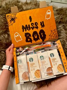Halloween Inspo, Cute Halloween, Halloween Treats, Dollar Store Halloween, Halloween Decorations, Cute Gifts, Diy Gifts, Best Friend Gifts, Holiday Fun