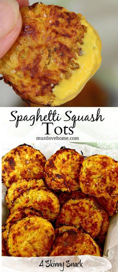 Spaghetti Squash Tots are an addictive crispy snack that will have you reaching for more! These little tots are so tasty it will be hard to believe they are healthy and low-calorie too!