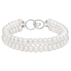 Look, what I found on Overstock.com!   http://www.overstock.com/8223732/product.html http://ak1.ostkcdn.com/images/products/8223732/8223732/Pearlyta-Sterling-Silver-White-FW-Pearl-Double-strand-Bracelet-6-7-mm-P15554473.jpg