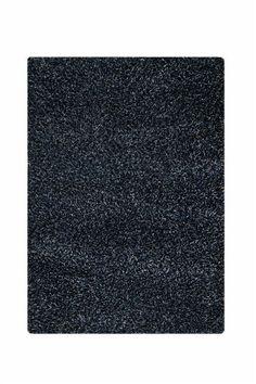 Hirsute Black Solid Area Rug