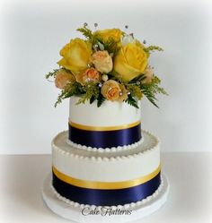 wedding cakes navy blue and yellow blue and yellow wedding cake wedding 25069