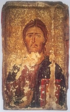 Icon of Christ Pantokrator, about Image courtesy of the Byzantine Museum, Kastoria Byzantine Icons, Byzantine Art, Religious Icons, Religious Art, Cross Cultural Communication, Christ Pantocrator, Images Of Christ, Christian Artwork, Religious Paintings
