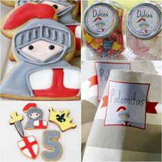 Kit de fiesta de caballeros imprimible de venta en: http://shop.fiestascoquetas.com #PrincesasYCaballeros