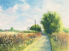 "'Long Hot Summer' by Jamie Sugg (watercolour, 15"" x 11"")"