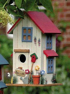 Bird House Kits Make Great Bird Houses Bird Houses Painted, Bird Houses Diy, Fairy Houses, Decorative Bird Houses, Bird House Plans, Bird House Kits, Birdhouse Designs, Birdhouse Ideas, Birdhouse Craft