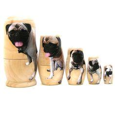 Pug as nesting dolls Mans Best Friend, Best Friends, Cute Pugs, Pug Love, Pet Gifts, Fur Babies, Your Pet, Dog Cat, Pet Pet