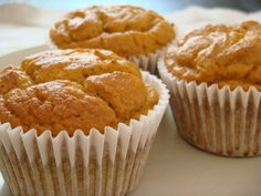 These pumpkin muffins are moist and tasty.  They did not last long with my chief taster which is a good sign.  I made another batch and put cream cheese frosting on them.  They did not last long en...