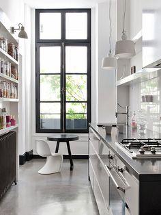 Kitchen - black window frame