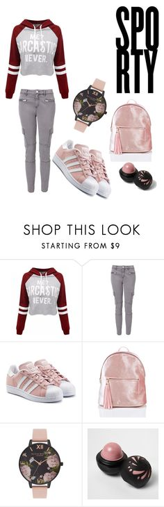 """Untitled #27"" by arnela1242 on Polyvore featuring WithChic, Witchery, adidas Originals, Olivia Burton and River Island"