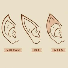 Nerd Ears Tee-Shirt -- An awesome t-shirt for LOTR and Star Trek fans alike!
