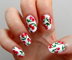 ineresting nails | 19 Interesting Fruit Nails Design - Fashion Diva Design  | See more at http://www.nailsss.com/french-nails/2/