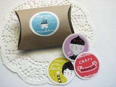 Sticker set - A4 sticker sheet with 13