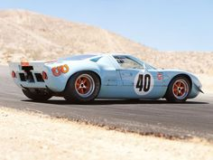 1968 Gulf Ford GT40 Le-Mans Racing Car Race Classic 4000x3000 wallpaper background