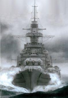 """polaris660: """" redjeep: """" that's the KMS Gneisenau, a WWII German Battlecruiser / Light Battleship """" """" """" He had a little sister called: 'Scharnhorst'. """" """""""