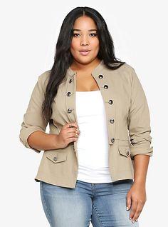 Military Jacket | Torrid  #plussize #fashion #plus  plus size fashion for women