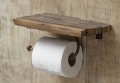 Beautiful DIY Toilet Paper Holder - Have you ever faced the situation where you wanted another toilet paper roll, but there was none present. This surely is a very difficult and embarras. Rustic Toilets, Primitive Bathrooms, Rustic Bathrooms, Modern Bathroom, Vintage Bathroom Decor, Rustic Bathroom Shelves, Bathroom Toilet Paper Holders, Toliet Paper Holder, Home Decor Accessories