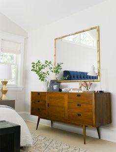 White and Neutral Spaces | Pinterest | Mid century modern dresser ...
